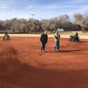 Inspecting well prepared soil