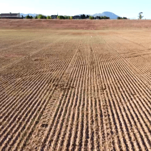 Reclamation soil work on large brown field